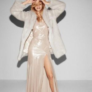 Ivory Faux Fur Coat by Express